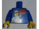 Part No: 973pb2321c01  Name: Torso LEGO KidsFest Boy Holding Red Brick Pattern / Blue Arms / Yellow Hands