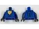 Part No: 973pb2752c01  Name: Torso Nexo Knights Armor with Blue Circuitry, Dark Blue Center Panel, Falcon Symbol on Pentagonal Shield Pattern / Dark Blue Arms / Black Hands