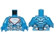Part No: 973pb3312c01  Name: Torso Armor with Silver Superman 'S' Logo with Red Border Pattern / Blue Arms / Blue Hands