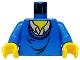 Part No: 973px151c01  Name: Torso Harry Potter Ron Pattern / Blue Arms / Yellow Hands