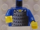 Part No: 973px16c01  Name: Torso Castle Ninja Armor Plate Mail Pattern / Blue Arms / Yellow Hands