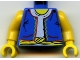 Part No: 973px182c01  Name: Torso Adventurers Orient Vest, Light Blue Shirt, Yellow Rope Belt Pattern / Yellow Arms / Yellow Hands