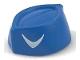 Part No: 98381pb02  Name: Minifigure, Headgear Cap, Butcher / Food Service with White Boomerang Pattern