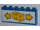 Part No: BA003pb10  Name: Stickered Assembly 6 x 1 x 2 with Boxes and Arrows Pattern (Sticker) - Sets 6377 / 6391 - 2 Brick 1 x 6