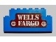 Part No: BA026pb02  Name: Stickered Assembly 8 x 1 x 3 with 'WELLS FARGO' Pattern (Sticker) - Set 365 - 2 Brick 1 x 8, 1 Brick 1 x 6