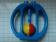 Part No: bab003  Name: Duplo Rattle Oval with Yellow/Red Wheel