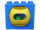 Part No: bb0052  Name: Duplo, Brick 2 x 4 x 2 with Green Ball in Yellow Rattle