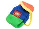 Part No: bb0241  Name: Duplo Doll Cloth Backpack with Green Base and Lego Logo
