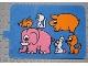 Part No: bb0257pb06  Name: Duplo Slide with Animals Pattern