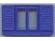 Part No: cwindow03  Name: Window 1 x 6 x 3 Shuttered, with Glass for Slotted Bricks
