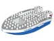 Part No: dupboat05c01  Name: Duplo Boat Hull 8 x 17 with Police Pattern