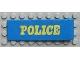 Part No: x979pb01  Name: Duplo Door 1 x 4 x 1 with Yellow POLICE Pattern