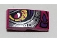 Part No: 11477pb091L  Name: Slope, Curved 2 x 1 with Magenta and Silver Dragon Eye Pattern Model Left Side