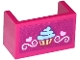 Part No: 23969pb001  Name: Panel 1 x 2 x 1 with Rounded Corners and 2 Sides with Cupcake, Hearts and Swirls Pattern (Sticker) - Set 41119