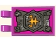 Part No: 30350bpb125  Name: Tile, Modified 2 x 3 with 2 Open O Clips with Armor Pattern (Sticker) - Set 80006