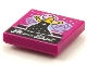 Part No: 3068bpb1601  Name: Tile 2 x 2 with Groove with BeatBit Album Cover - Singer with Pink Hair in Black Dress Pattern