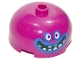 Part No: 49308pb002  Name: Brick, Round 3 x 3 x 1 1/3 Dome Top - Open Stud with Face, White Eyes and Teeth and Black Open Mouth Wide Smile with Blue Outlines Pattern