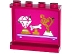 Part No: 60581pb054  Name: Panel 1 x 4 x 3 with Side Supports - Hollow Studs with Jewel, Bone and Music Trophies on Shelf Pattern on Inside (Sticker) - Set 41104