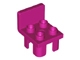Part No: 6478  Name: Duplo Furniture Chair with 4 Studs and Squared Back