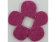 Part No: 66829  Name: Felt Fabric 4 x 4 Flower Thick with Square Hole