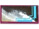 Part No: 87079pb0208  Name: Tile 2 x 4 with Mirror with Medium Azure Lines on Silver Background Pattern (Sticker) - Set 41093