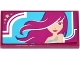 Part No: 87079pb0209  Name: Tile 2 x 4 with Woman with Long Hair Pattern (Sticker) - Set 41093