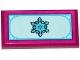 Part No: 87079pb0211  Name: Tile 2 x 4 with Snowflake on Light Aqua Background Pattern (Sticker) - Set 41062