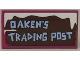 Part No: 87079pb0259  Name: Tile 2 x 4 with 'OAKEN'S TRADING POST' Pattern (Sticker) - Set 41066