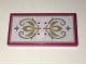 Part No: 87079pb0329  Name: Tile 2 x 4 with Gold Crest and Sand Green Scrollwork Pattern (Sticker) - Set 41068