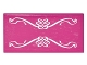 Part No: 87079pb0332  Name: Tile 2 x 4 with White Elves Scrollwork on Transparent Background Pattern (Sticker) - Set 41178