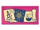 Part No: 87079pb0333  Name: Tile 2 x 4 with Tower with Eggs Picture, Star Chart and Scroll with Hatching Baby Dragon on Transparent Background Pattern (Sticker) - Set 41178