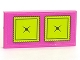 Part No: 87079pb0684  Name: Tile 2 x 4 with Lime Cushions Pattern (Sticker) - Set 41323