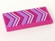 Part No: 87079pb0750  Name: Tile 2 x 4 with Lavender and White Chevrons Pattern (Sticker) - Set 41324
