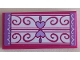Part No: 87079pb0986  Name: Tile 2 x 4 with with Medium Lavender Edges and Hearts and Magenta Swirls on White Carpet Pattern (Sticker) - Set 41323