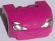 Part No: 93587pb02  Name: Vehicle, Mudguard 3 x 4 x 1 2/3 Curved with Front with Headlights and Thin Smile Pattern