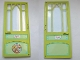 Part No: 6896bpb01  Name: Scala Door Mullioned - Hinged 10 x 1 x 18 2/3 with 'Marie' Pattern on Both Sides (Stickers) - Set 3142