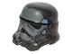 Part No: 30408pb10  Name: Minifigure, Headgear Helmet SW Stormtrooper, 2 Chin Holes, Dark Bluish Gray and Sand Blue Pattern (Shadow Stormtrooper)