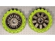 Part No: 47349c05  Name: Wheel 72 x 34 with Lime Tire 100 x 48 Balloon Offset Tread