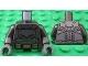 Part No: 973pb2201c01  Name: Torso Batman Logo with Body Armor and Gold Belt Pattern / Pearl Dark Gray Arms / Dark Bluish Gray Hands
