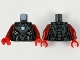 Part No: 973pb3955c01  Name: Torso Armor, Dark Silver Plates, Silver Trim and Metallic Blue Circle Arc Reactor Pattern / Dark Red Arms / Red Hands
