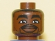 Part No: 3626bpb0143  Name: Minifigure, Head NBA Chris Webber Pattern - Blocked Open Stud