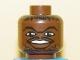Part No: 3626bpb0147  Name: Minifigure, Head NBA Jerry Stackhouse Pattern - Blocked Open Stud