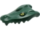 Part No: 18905pb01  Name: Alligator / Crocodile Head Upper Jaw with Yellow Eyes with White Glints Pattern