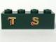 Part No: 3010pb100  Name: Brick 1 x 4 with Gold 'T S' Pattern (Sticker) - Set 10194