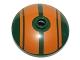 Part No: 43898pb005  Name: Dish 3 x 3 Inverted (Radar) with Orange Stripes Pattern