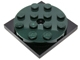 Part No: 60474c01  Name: Turntable 4 x 4 x 2/3 Top with Black Square Base, Free-Spinning (60474 / 61485)