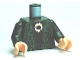 Part No: 973pb0743c01  Name: Torso Harry Potter McGonagall Green Trim Pattern / Dark Green Arms / Light Flesh Hands