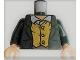 Part No: 973pb1138c01  Name: Torso LotR Jacket and Yellow Vest Pattern (Merry) / Dark Green Arms / Light Flesh Hands