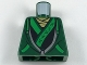 Lot ID: 184177176  Part No: 973pb2851  Name: Torso Hoodie with Bright Green Ties and Trim over Ninjago Robe with Asian Characters Pattern