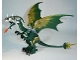 Part No: Dragon03  Name: Dragon (Fantasy Era) with Dark Green Head with Armor